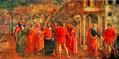 MASTERPIECES OF ART IN THE CENTURIES / FLORENCE – Masaccio: the payment of the tribute | Meeting Benches