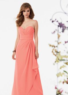 2015 Sweetheart Blush Sleeveless Ruched Chiffon Floor Length Bridesmaid / Prom Dresses By Jordan 757