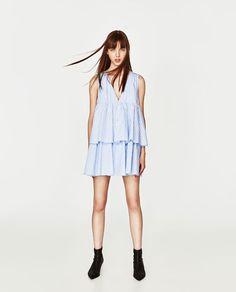ZARA - WOMAN - STRIPED JUMPSUIT DRESS WITH RUFFLES