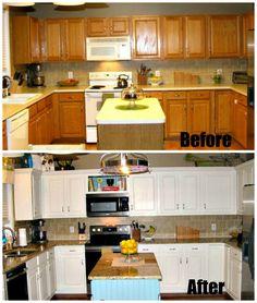 Budget Kitchen Redo on Pinterest | Budget Kitchen Remodel, Kitchen