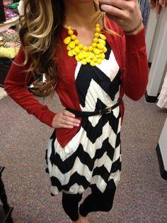 Black/White Chevron Dress.. Really would love to find a chevron dress.