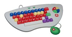 MyPC Stage I Keyboard 2nd Generation- WHITE ONLY ($49.99) This is a plug and play toddler's keyboard which works on the PC or Mac. Entirely spill-proof and washable, the keyboard has been ergonomically designed for young children, and the keys have been color coded to enhance the learning experience.