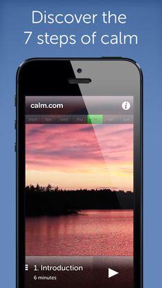 Calm: guided meditation app.