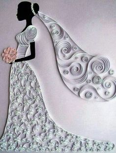 Beautiful on a wedding card
