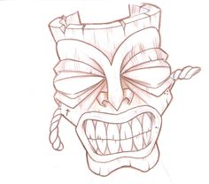 tiki_mask_tattoo_design_by_punkvernie-d4vevb1.jpg (900×797)