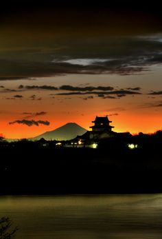 関宿城の夕景-3