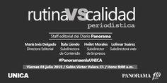 Rutina VS. Calidad periodística, nos visita el Staff editorial del Diario Panorama.