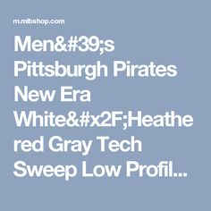 Men's Pittsburgh Pirates New Era White/Heathered Gray Tech Sweep Low Profile 59FIFTY Fitted Hat | MLBShop.com