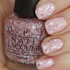 9.95AUD - Opi - Let's Do Anything We Want - M78 Pink Tan White Glitter Nail Polish Lacquer #ebay #Fashion