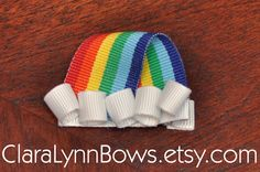 Rainbow Ribbon Sculpture Hair Bow - New to Clara Lynn Bows Ribbon Art, Ribbon Crafts, Ribbon Bows, Rainbow Ribbon, Rainbow Hair, Diy Hairstyles, Pretty Hairstyles, Operation Christmas Child Boxes, Hair Ribbons