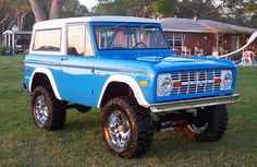 1973 Ford Bronco - If I could have this car... Exactly the way it is in this picture. I'd be so happy.
