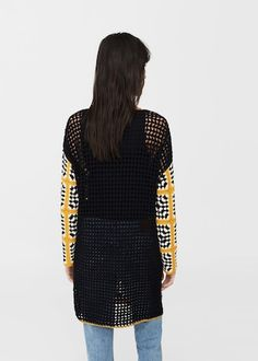 Discover the latest trends in Mango fashion, footwear and accessories. Shop the best outfits for this season at our online store. Crochet Jacket, Crochet Cardigan, Crochet Top, Capsule Outfits, Crochet Woman, Sweater Coats, Sweaters, Crochet Fashion, Crochet Clothes