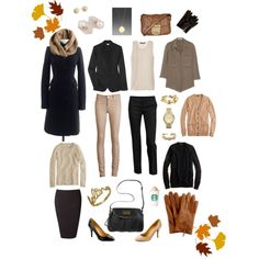"""Fall Wardrobe"" by autumn85 on Polyvore..Shows the 10-Item wardrobe ideas from various people."