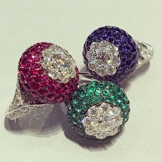 Instagram media totogugu - #ruby#diamond#emerald#sapphire#ring#allset