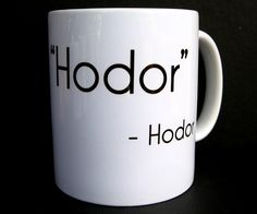 Coffee Mug Hodor Game of Thrones Coffee Cup Ceramic by JandAWares