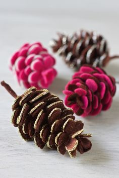 Colorful pinecone