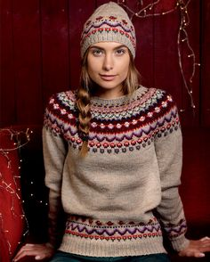 Ideas For Knitting Patterns Free Jumper Fair Isles Punto Fair Isle, Tejido Fair Isle, Sweater Knitting Patterns, Knit Patterns, Knitting Sweaters, Fair Isle Knitting, Free Knitting, Baby Born Kleidung, Oversize Pullover