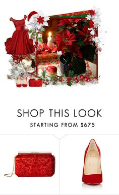 """""""Christmas star! - Contest!"""" by asia-12 ❤ liked on Polyvore featuring Oscar de la Renta, Christian Louboutin and vipme"""
