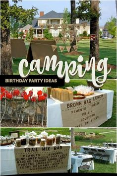 A Boy's Camping Themed Birthday Party
