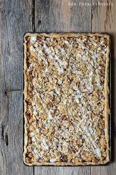 Apple Slab Pie with Nutty Oat Crumble Topping  from @AnEdibleMosaic