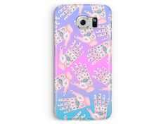 Samsung Galaxy S6 Case, S6 Cover, Kawaii Phone Case, S6 Edge Case, Hand Pattern, Samsung Case, Occult Phone Case, Tattoo Cell Case, Gifts
