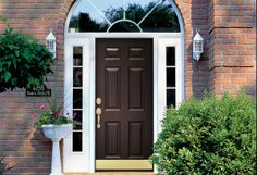 Lowe S Exterior Entry Doors With Transom Fiberglass