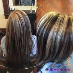 Beautiful chocolate brown base with blonde highlights