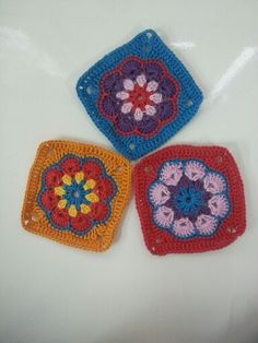 African flower squares.