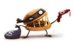 Daily Painting 620 # Sketch Dailies - Hamburgler by Cryptid-Creations on deviantART