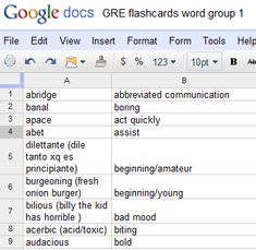 make your own flashcards free with Google  docs