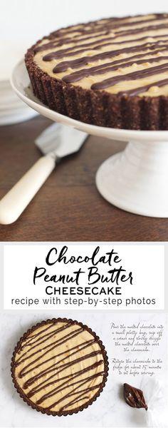 Chocolate Peanut Butter Cheesecake | eatlittlebird.com