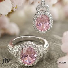 #Pink and #white Bella Luce #ring and #pendant