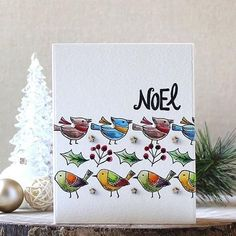 Holiday Aviary Clear Set from Christmas Cards 2017, Christmas Bird, Holiday Cards, Flora And Fauna, Cardmaking, Greeting Cards, Birds, Stamp, Shapes