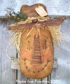 Happy Harvest Scarecrow head.