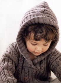 Pullover with a relief pattern