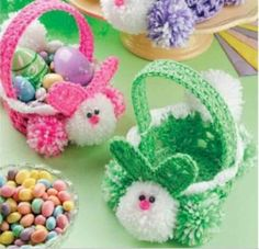 16 of the Cutest FREE Crochet Easter Basket Patterns | Quartered Heart Crochet