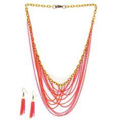 C18: Collar Cadenas Multicolor