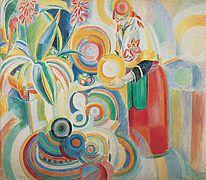 ARTE ABSTRACTO.   Robert DELAUNAY (1885 - 1941) fue un pintor francés. Esposo de Sonia Terk Delaunay, fue uno de los pioneros del arte abstracto a principios del siglo XX.  En 1912 abandonó el cubismo, con sus formas geométricas y colores monocromáticos, para embarcarse en un nuevo estilo, el orfismo, que se centró en las formas circulares y en los colores brillantes, y que ha sido también calificado de cubismo abstracto o rayonismo. Su serie Ventanas (1912) constituyó uno de los primeros…
