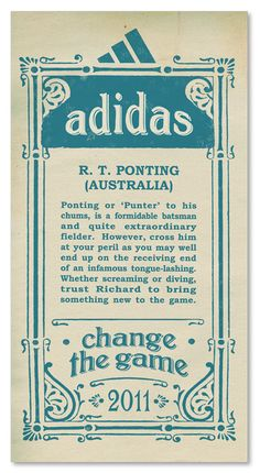 Adidas+ +Ricky+Ponting+Australia+World+Cup+2011+Campaign Adidas and Pepsi Cricket World Cup 2011 Campaign Posters
