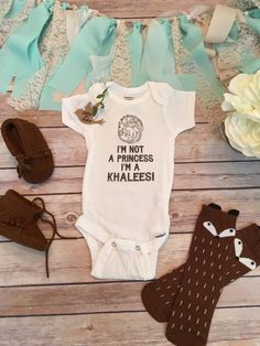 I'm Not A Princess I'm A Khaleesi Onesie®, Game of Thrones Baby Clothes, Baby Shower Gift, Baby Girl Clothes, Khaleesi Baby, Dragon Onesie