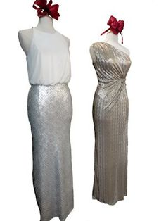 Silver and Gold never go out of Style. Beautiful evening Evening Dresses.
