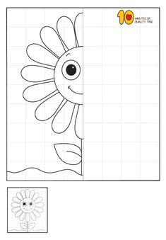 5 Flower Symmetry Worksheets Symmetry Worksheets, Symmetry Activities, Drawing Activities, Art Worksheets, Worksheets For Kids, Preschool Writing, Kindergarten Learning, Preschool Activities, Drawing For Kids