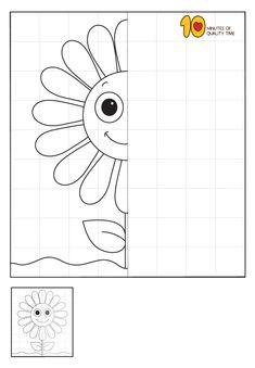 Symmetry Worksheets, Symmetry Activities, Drawing Activities, Art Worksheets, 1st Grade Worksheets, Worksheets For Kids, School Age Activities, Preschool Activities, Kindergarten Learning