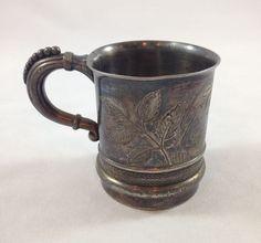 Antique James W. Tufts Boston Warranted Quadruple Plate 1379 Child's Cup Bessie #JamesWTufts