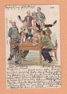 10 1 1902 Gelaufen Scherz Künstlerkarte Eine Sprengung ALS Studentika | eBay