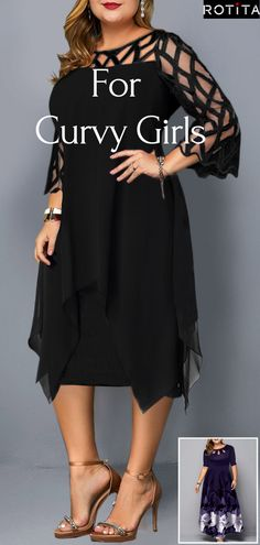 Round Neck Fall Plus Size Dress - Round Neck Fall Plus Size Dress Looking for plus size dress ideas to liven up your wadrobe? Get inspired by the best plus size fashionistas and find o. Curvy Girl Fashion, Look Fashion, Plus Size Fashion, Plus Size Dresses, Plus Size Outfits, Cute Dresses, Fall Outfits, Cute Outfits, Classy Outfits