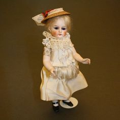 Antique Tall All-Bisque Mignonette by Jullien Jeune from belle-epoque-dolls on Ruby Lane