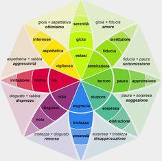 Fiore delle emozioni (o fiore di Plutchik) è uno strumento utile per la psicoeducazione. Lo scopo è quello di imparare a dare un nome alle proprie emozioni e a padroneggiare le varie sfumature che esse hanno in base all'intensità e/o alla combinazione tra di esse.