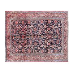 Pre-Owned Persian Malayer Carpet 9' x 12' ($3,999) ❤ liked on Polyvore featuring home, rugs, red persian rug, persian area rugs, red area rugs, floral area rugs and persian style rugs