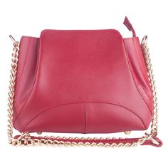 Mills red italian leather chain/shoulder bag